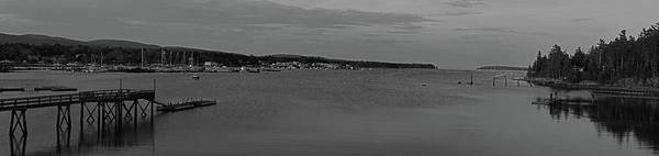 Photograph - Mount Desert Island Black And White Panorama by Juergen Roth