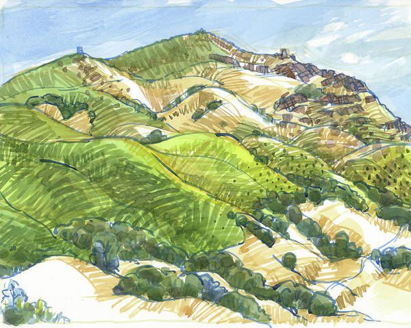 Painting - Mount Diablo From Curry Point by Judith Kunzle