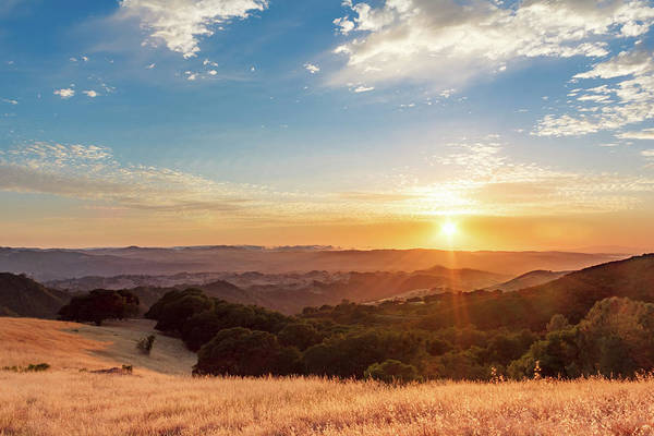 Photograph - Mount Diablo Sunset by Geoffrey Lewis