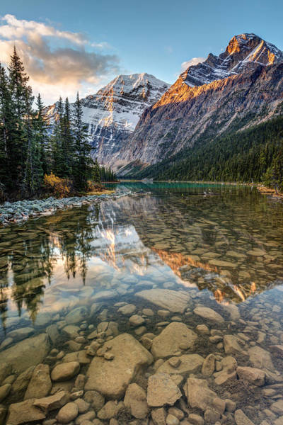 Photograph - Mount Edith Cavell Sunrise by Pierre Leclerc Photography