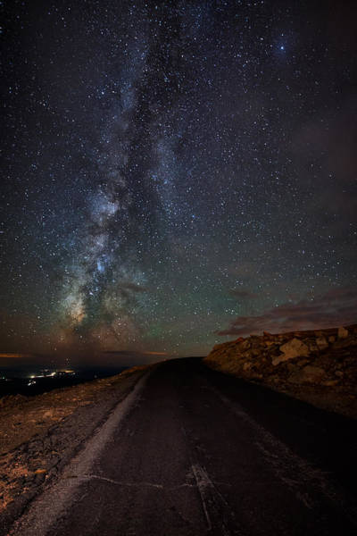 Fourteener Photograph - Mount Evans Road To The Milky Way by Mike Berenson