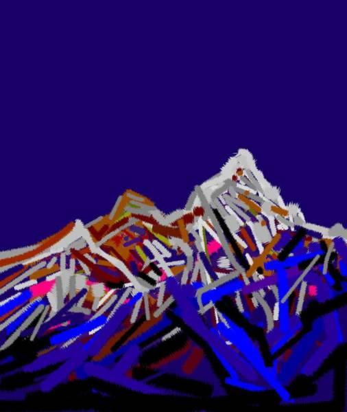 Wall Art - Digital Art - Mount Everest by Anand Swaroop Manchiraju