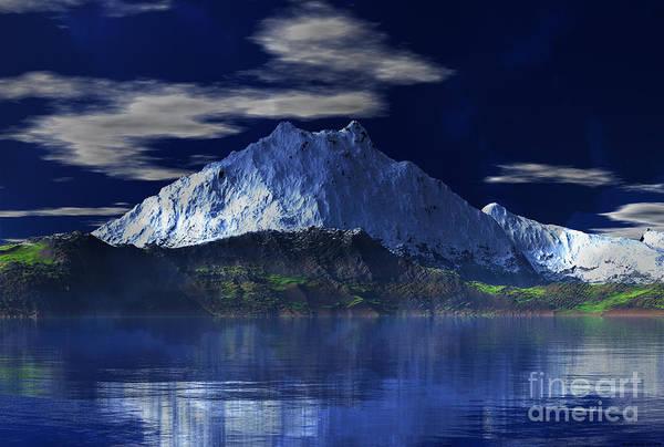 Mounted Digital Art - Mount Fuji  by Heinz G Mielke
