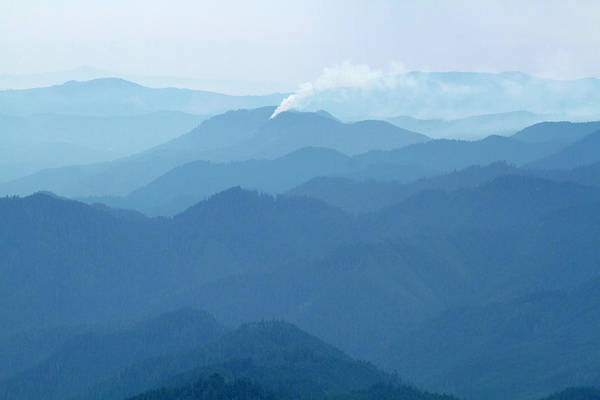 Mount Hagen Photograph - Mount Hagan Wildfire, Willamette Nf, Oregon by Robert Mutch