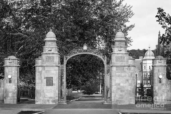 Gate Wall Art - Photograph - Mount Holyoke College Field Gate by University Icons