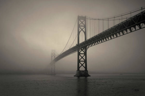 Photograph - Mount Hope Bridge Toned by David Gordon