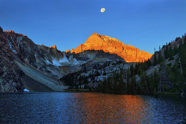 Photograph - Mount Idaho Alpenglow by Greg Norrell