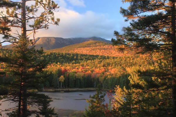 Baxter State Park Photograph -  Katahdin In Autumn by John Burk