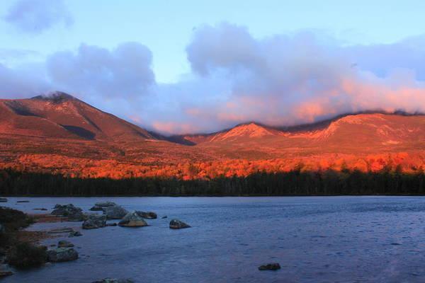 Baxter State Park Photograph - Mount Katahdin Sunrise by John Burk