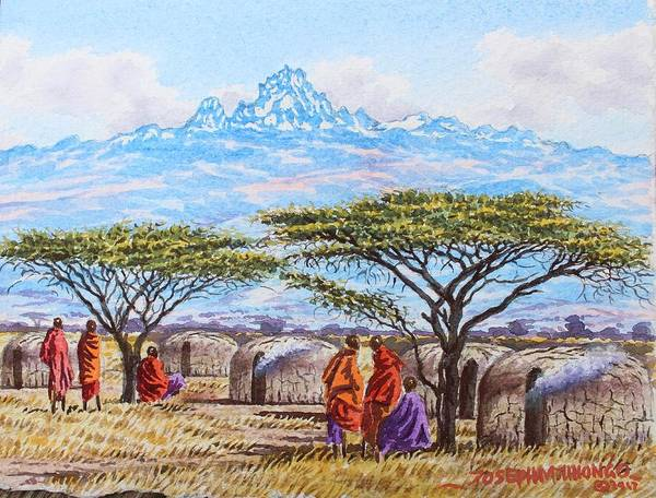 Painting - Mount Kenya 3 by Joseph Thiongo