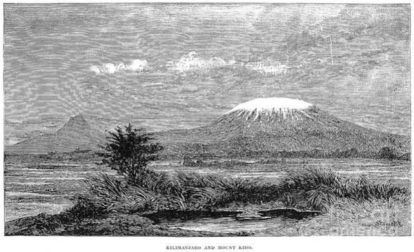 Wall Art - Photograph - Mount Kilimanjaro, 1884 by Granger