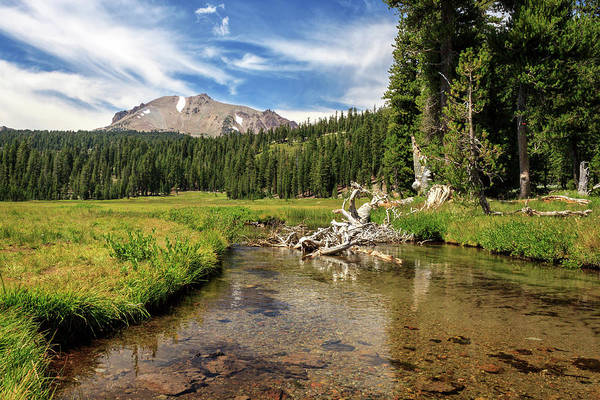 Photograph - Mount Lassen And Kings Creek by James Eddy