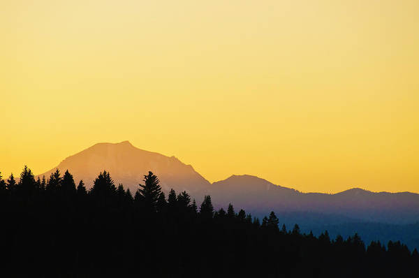 Mount Lassen At Sunset Art Print