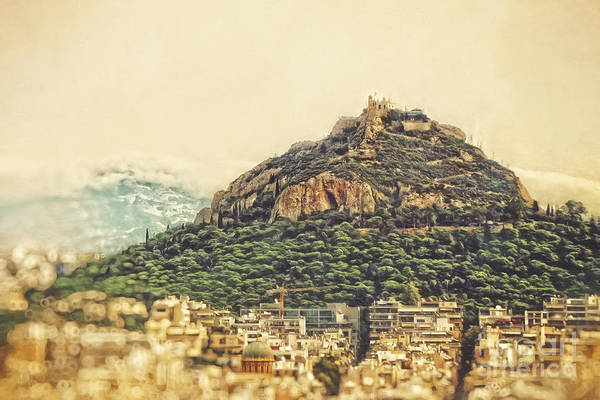 Wall Art - Photograph - Mount Lycabettus by HD Connelly