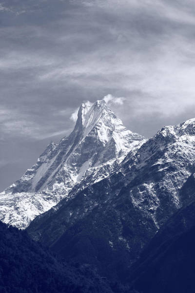 Photograph - Mount Machapuchare, The Himalayas, Nepal by Aidan Moran