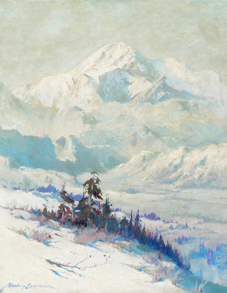 Wall Art - Painting - Mount Mckinley, Winter by Sydney Mortimer Laurence