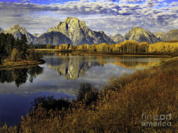 Photograph - Mount Moran From Ox Bow Bend, Tetons by Craig J Satterlee