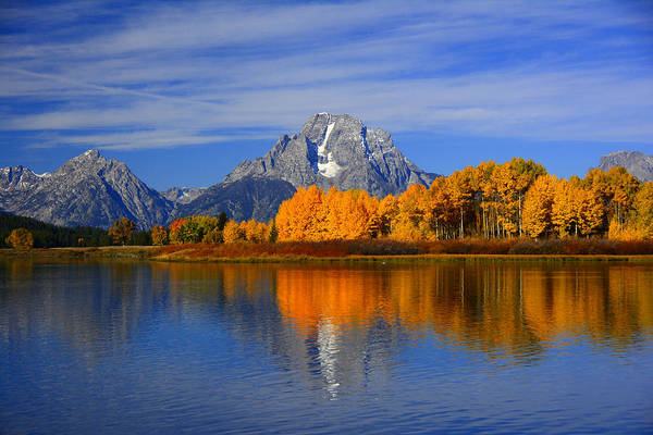 Photograph - Mount Moran In The Autumn by Raymond Salani III