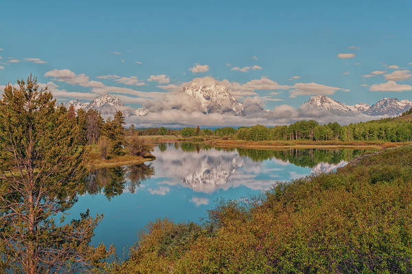 Jackson Hole Photograph - Mount Moran On Oxbow Bend by Brian Harig