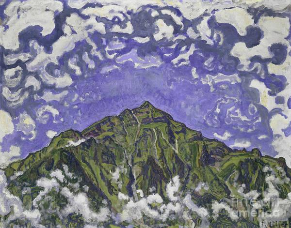 Wall Art - Painting - Mount Niesen Seen From Heustrich, 1910 by Ferdinand Hodler