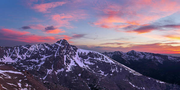 Mount Of The Holy Cross Panorama Art Print by Aaron Spong