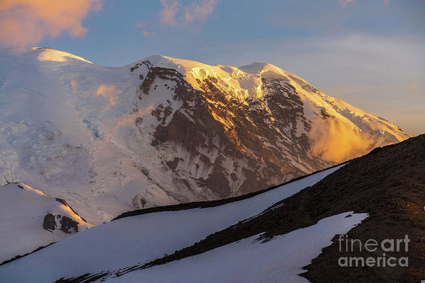 Wall Art - Photograph - Mount Rainier Afternoon Light Up Close by Mike Reid