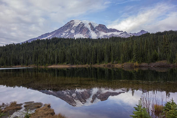 Photograph - Mount Rainier And Reflection Lake by Loree Johnson