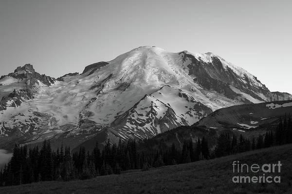 Photograph - Mount Rainier Bw  by Michael Ver Sprill
