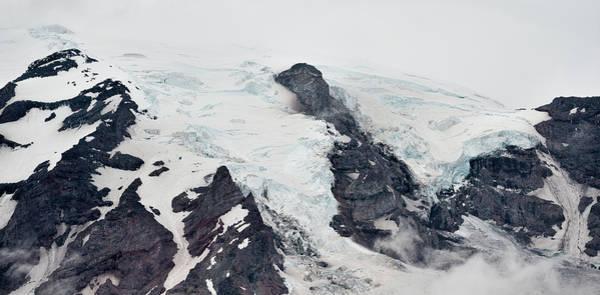 Photograph - Mount Rainier Glaciers by Loree Johnson