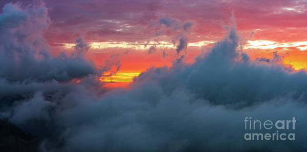 Wall Art - Photograph - Mount Rainier National Park Above The Clouds At Sunset 2 by Mike Reid