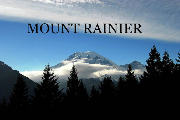 Wall Art - Photograph - Mount Rainier Northeast Side by David Lee Thompson