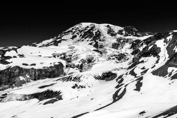 Photograph - Mount Rainier Peak Black And White by Pierre Leclerc Photography