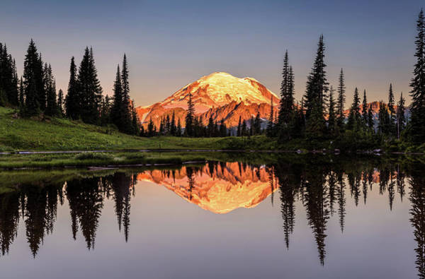 Photograph - Mount Rainier Reflection From Tipsoo Lake by Pierre Leclerc Photography
