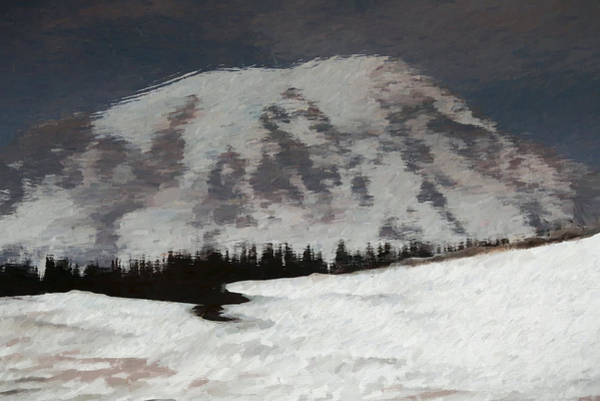 Mixed Media - Mount Rainier Reflection In Spring by Dan Sproul