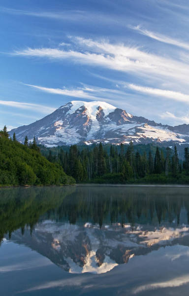 Wall Art - Photograph - Mount Rainier Reflections by Greg Vaughn - Printscapes
