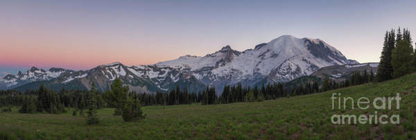 Photograph - Mount Rainier Sunset Pano by Michael Ver Sprill