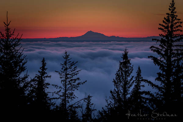 Mount Redoubt Photograph - Mount Redoubt  by Heather Stewman