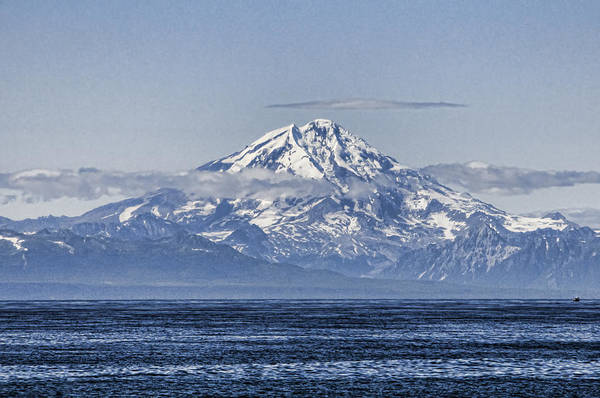 Mount Redoubt Photograph - Mount Redoubt Volcano No 2 by Phyllis Taylor