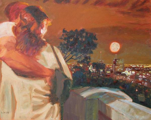 Wall Art - Painting - Mount Royal Lovers by Larry Herscovitch