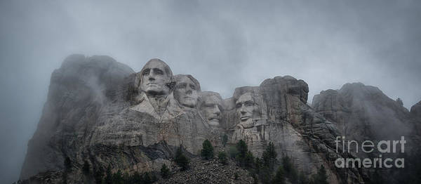 Thomas Jefferson Photograph - Mount Rushmore Break In The Clouds Pano by Michael Ver Sprill