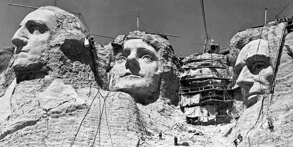 Rushmore Photograph - Mount Rushmore In South Dakota  by American School