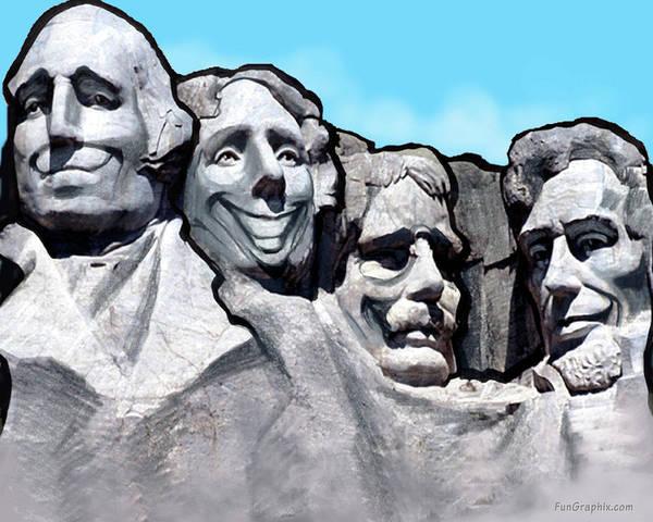 Digital Art - Mount Rushmore by Kevin Middleton