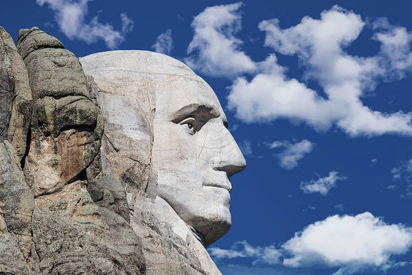 Carving Photograph - Mount Rushmore Profile Of George Washington by Tom Mc Nemar