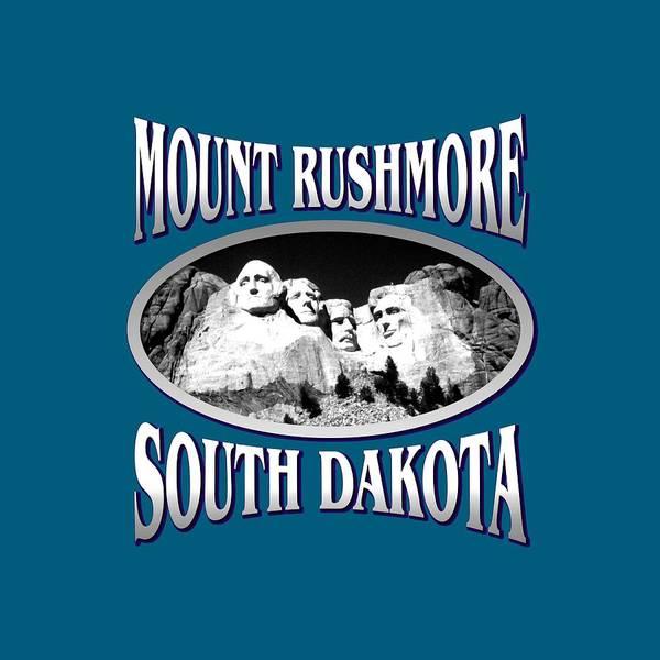 Clothing Design Mixed Media - Mount Rushmore South Dakota Design by Peter Potter