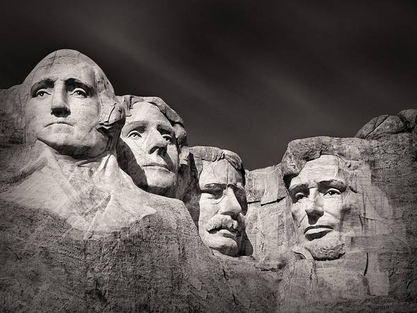 Stone Wall Art - Photograph - Mount Rushmore South Dakota Usa by Ian Barber