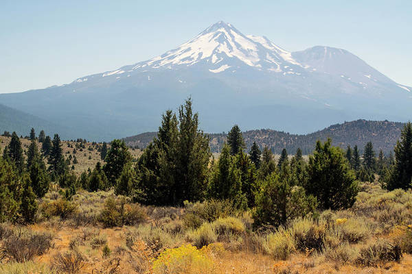 Wall Art - Photograph - Mount Shasta And Shastina by Frank Wilson