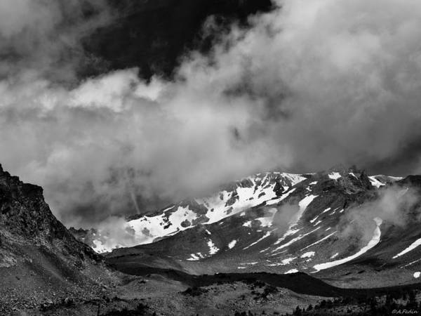Photograph - Mount Shasta In Black And White by Alexander Fedin