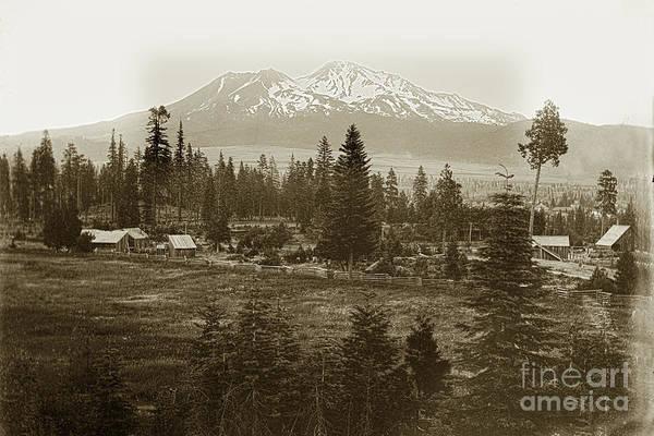 Photograph - Mount Shasta, Siskiyou County, California Circa 1901 by California Views Archives Mr Pat Hathaway Archives
