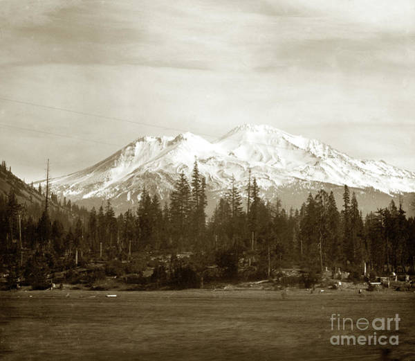 Photograph - Mount Shasta With Snow Circa 1910 by California Views Archives Mr Pat Hathaway Archives