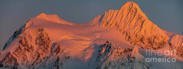 Wall Art - Photograph - Mount Shuksan Alpenglow Panorama by Mike Reid